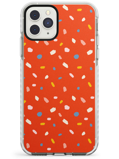 Confetti Print on Red iPhone Case  Impact Case Phone Case - Case Warehouse