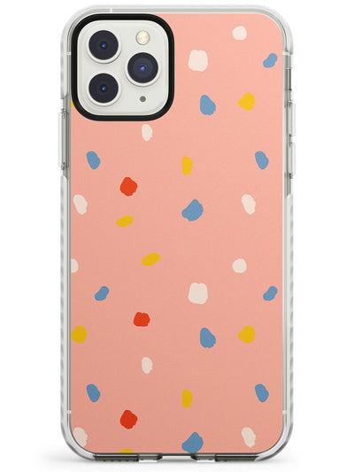 Large Confetti Print on Peach Impact Phone Case for iPhone 11 Pro Max
