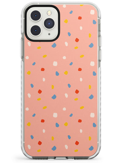 Small Confetti Print on Peach Impact Phone Case for iPhone 11 Pro Max