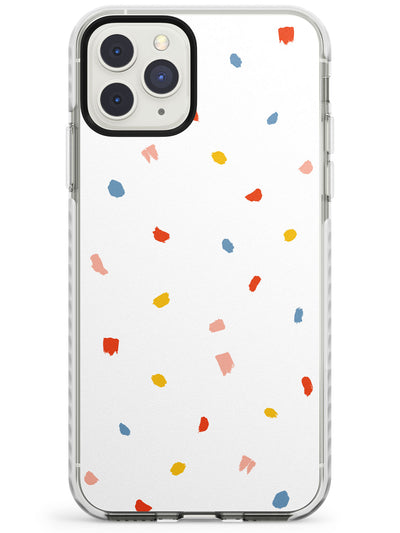 Large Confetti Print on Clear Impact Phone Case for iPhone 11 Pro Max