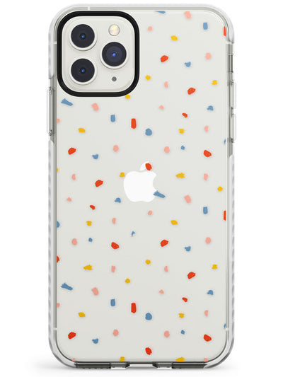 Small Confetti Print Clear iPhone Case  Impact Case Phone Case - Case Warehouse