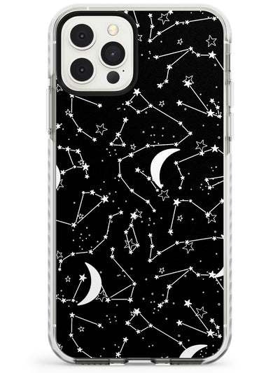White Constellations on Black Slim TPU Phone Case for iPhone 11 Pro Max