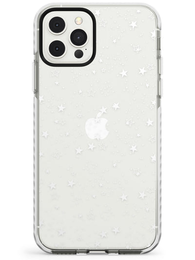 White Stars on Clear Impact Phone Case for iPhone 11 Pro Max