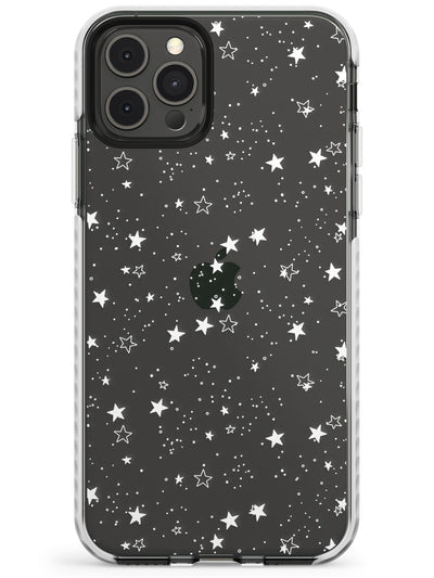 White Stars on Transparent Case Slim TPU Phone Case for iPhone 11 Pro Max