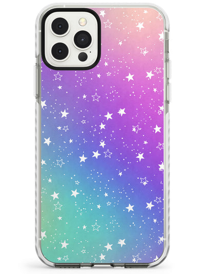 White Stars on Pastels Slim TPU Phone Case for iPhone 11 Pro Max