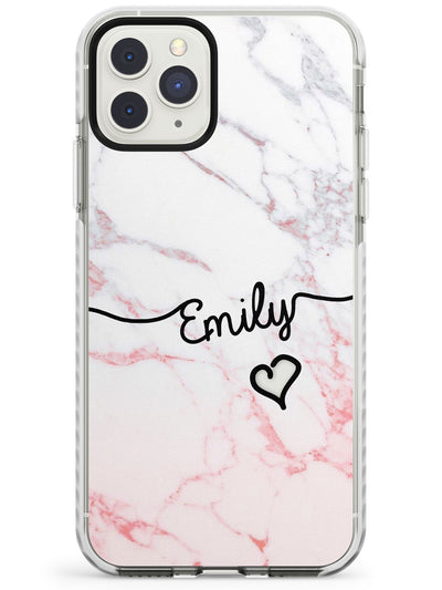 Pink Fade Marble iPhone Case  Impact Case Custom Phone Case - Case Warehouse