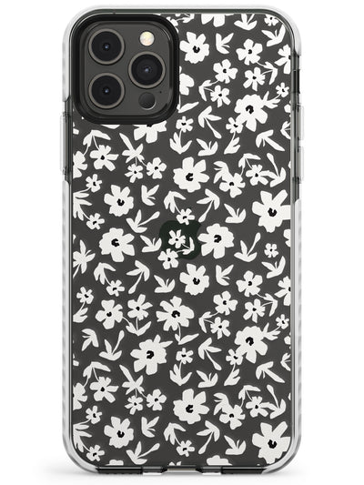 Floral Print on Clear - Cute Floral Design Slim TPU Phone Case for iPhone 11 Pro Max