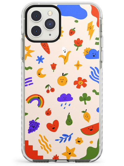 Mixed Cute Icon Pattern - Solid iPhone Case Impact Phone Case Warehouse 11 Pro Max