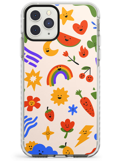 Mixed Large Kawaii Icons - Solid iPhone Case Impact Phone Case Warehouse 11 Pro Max