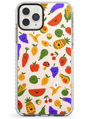 Mixed Kawaii Food Icons - Solid iPhone Case Impact Phone Case Warehouse 11 Pro Max