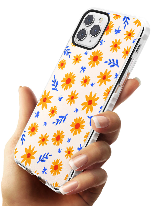 Cute Daisy Pattern - Solid iPhone Case Impact Phone Case Warehouse 11 Pro Max