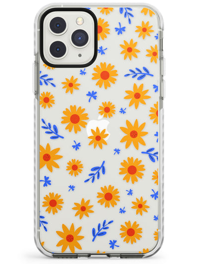Cute Daisy Pattern - Clear iPhone Case Impact Phone Case Warehouse 11 Pro Max