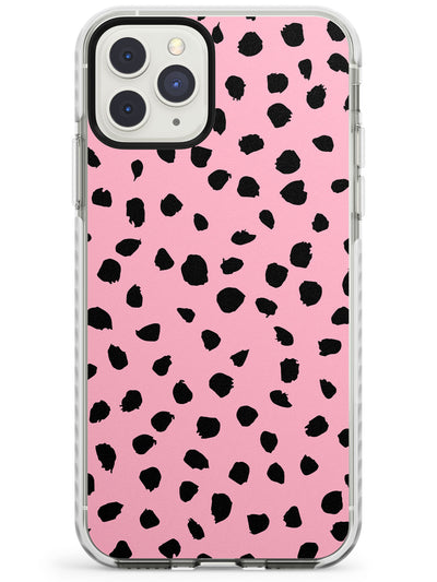Black & Pink Polka Dot iPhone Case  Impact Case Phone Case - Case Warehouse