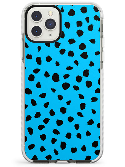 Black & Blue Dalmatian Polka Dot Spots Impact Phone Case for iPhone 11 Pro Max
