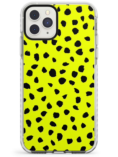 Black & Yellow Polka Dot iPhone Case  Impact Case Phone Case - Case Warehouse