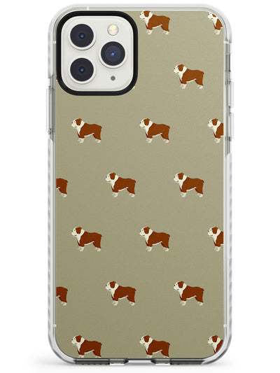 Englisdh Bulldog Dog Pattern Impact Phone Case for iPhone 11 Pro Max