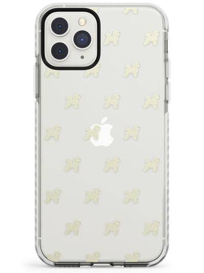 Bichon Frise Dog Pattern Clear Impact Phone Case for iPhone 11 Pro Max