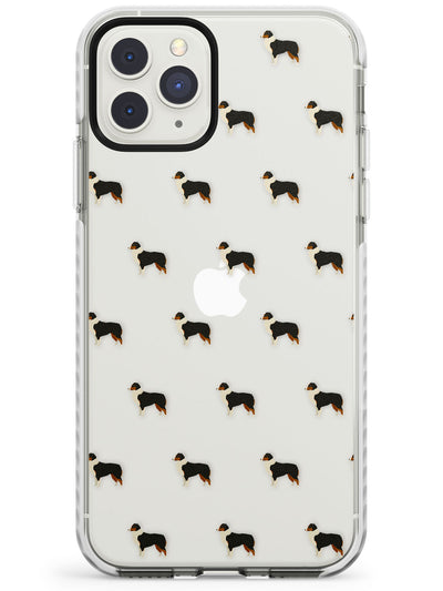 Australian Shepard Dog Pattern Clear Impact Phone Case for iPhone 11 Pro Max