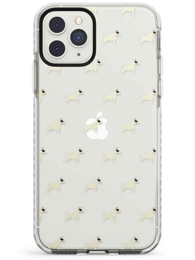 Bull Terrier Dog Pattern Clear Impact Phone Case for iPhone 11 Pro Max