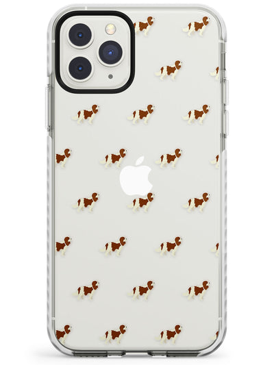 Cavalier King Charles Spaniel Pattern Clear Impact Phone Case for iPhone 11 Pro Max