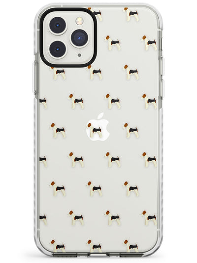 Fox Terrier Dog Pattern Clear Impact Phone Case for iPhone 11 Pro Max