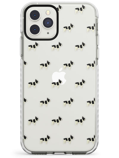French Bulldog Dog Pattern Clear Impact Phone Case for iPhone 11 Pro Max