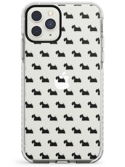 Scottish Terrier Dog Pattern Clear Impact Phone Case for iPhone 11 Pro Max
