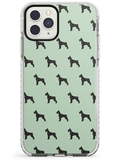Giant Schnauzer Dog Pattern Impact Phone Case for iPhone 11 Pro Max