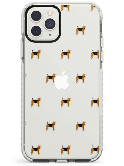 Airedale Terrier Dog Pattern Clear Impact Phone Case for iPhone 11 Pro Max
