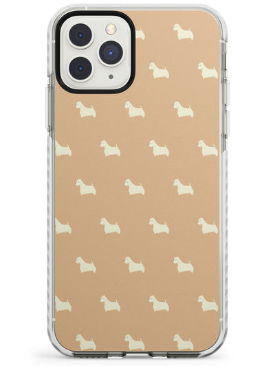 West Highland Terrier Dog Pattern Impact Phone Case for iPhone 11 Pro Max