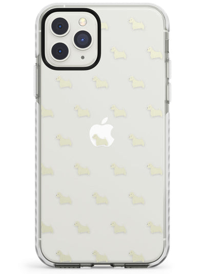West Highland Terrier Dog Pattern Clear Impact Phone Case for iPhone 11 Pro Max