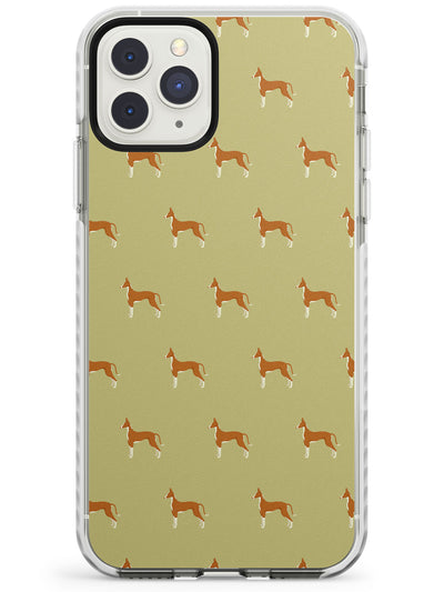 Ibizan Hound Dog Pattern Impact Phone Case for iPhone 11 Pro Max