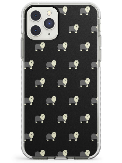 Old English Sheepdog Pattern Impact Phone Case for iPhone 11 Pro Max