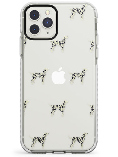 Dalmation Dog Pattern Clear Impact Phone Case for iPhone 11 Pro Max