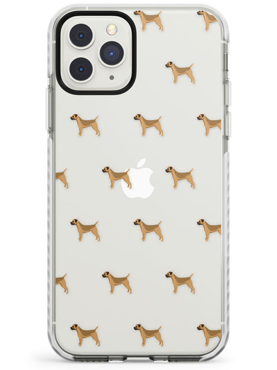 Boder Terrier Dog Pattern Clear Impact Phone Case for iPhone 11 Pro Max