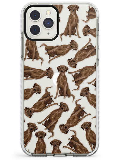 Chocolate Labrador Watercolour Dog Pattern Impact Phone Case for iPhone 11 Pro Max