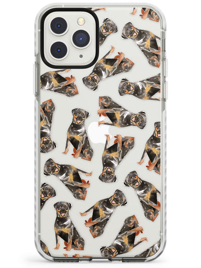 Rottweilers Watercolour Dog Pattern Impact Phone Case for iPhone 11 Pro Max