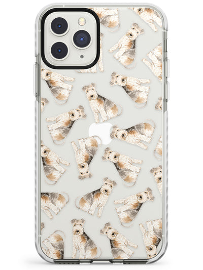 Lakeland Terrier Watercolour Dog Pattern Impact Phone Case for iPhone 11 Pro Max
