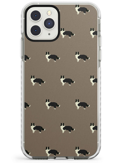 Border Collie Dog Pattern Impact Phone Case for iPhone 11 Pro Max