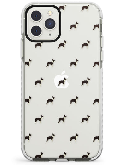 Boston Terrier Dog Pattern Clear Impact Phone Case for iPhone 11 Pro Max