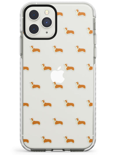 Pembroke Welsh Corgi Dog Pattern Clear Impact Phone Case for iPhone 11 Pro Max