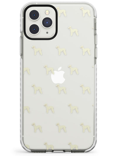 Bedlington Terrier Dog Pattern Clear Impact Phone Case for iPhone 11 Pro Max