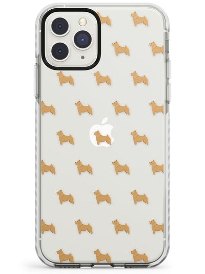 Norwich Terrier Dog Pattern Clear Impact Phone Case for iPhone 11 Pro Max