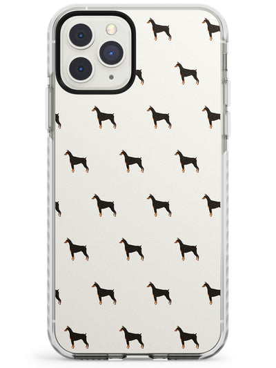 Doberman Pinscher Dog Pattern Impact Phone Case for iPhone 11 Pro Max