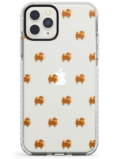 Pomeranian Dog Pattern Clear Impact Phone Case for iPhone 11 Pro Max