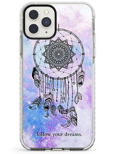 Galaxy Pattern Dreamcatcher Tie Dye Impact Phone Case for iPhone 11 Pro Max