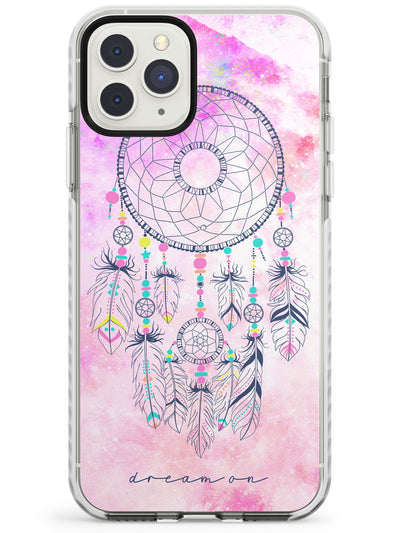 Pink Galaxy Print Dreamcatcher Impact Phone Case for iPhone 11 Pro Max