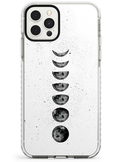 Dark Watercolour Moon Phases Slim TPU Phone Case for iPhone 11 Pro Max