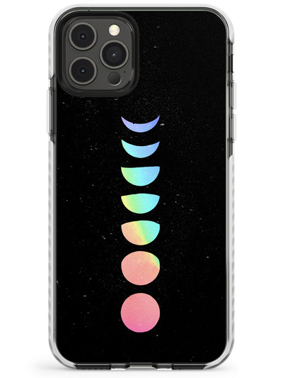 Pastel Moon Phases Slim TPU Phone Case for iPhone 11 Pro Max