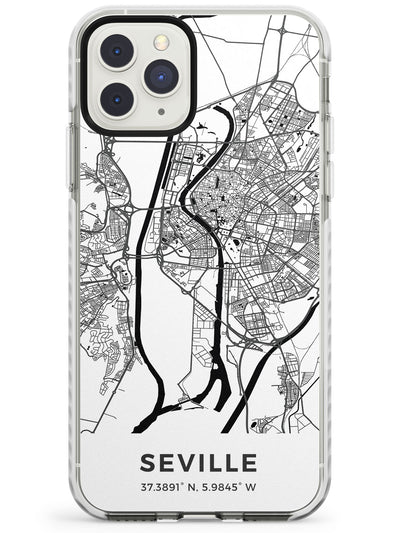 Map of Seville, Spain Impact Phone Case for iPhone 11 Pro Max